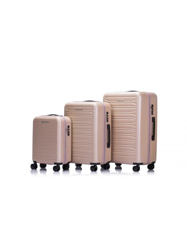 LONDON - Set de 3 valises silver