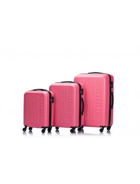 BUCAREST - Set de 3 valises coral