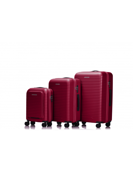 LONDON - Set de 3 valises burgundy