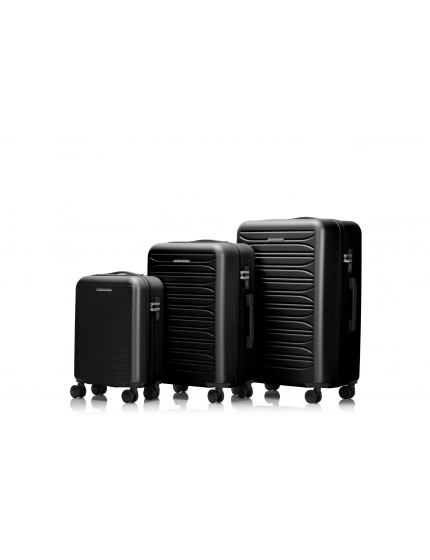PARIS - Set de 3 valises black