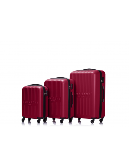 SOFIA - Set de 3 valises burgundy